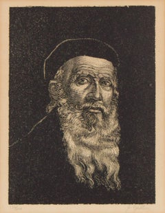 Portrait of a Rabbi, Judaica Print