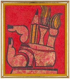 Mod Psychedelic Era Art Painting, Pop Art C. 1970s