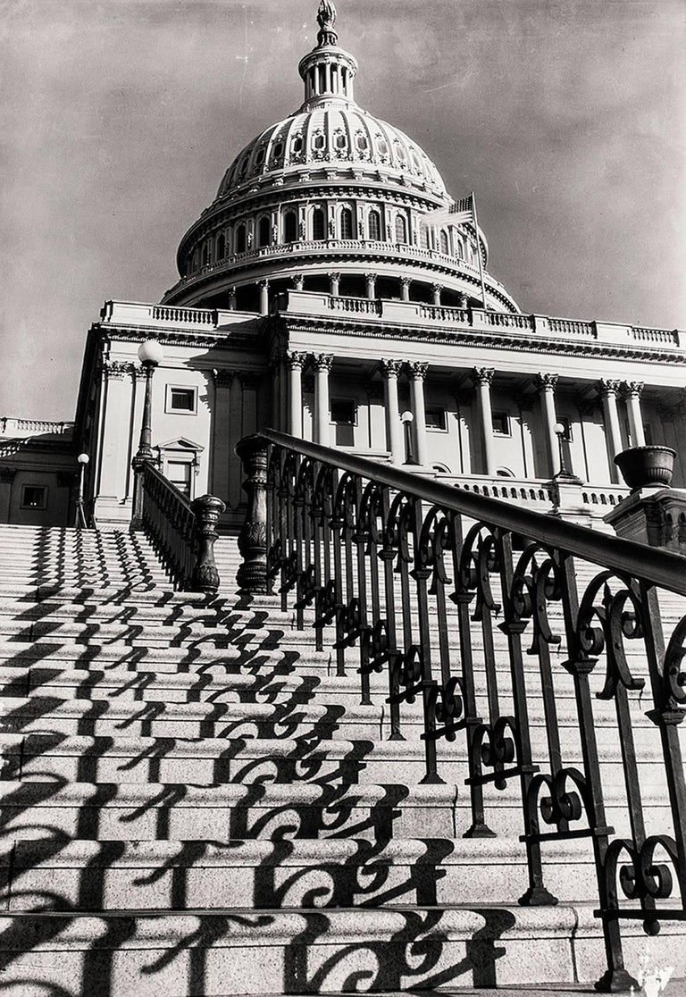 "Margaret Bourke-White Landscape Photograph - MARGARET BOURKE-WHITE (AMERICAN, 1904-1971): ""THE CAPITOL STEPS, WASHINGTON, D.C"