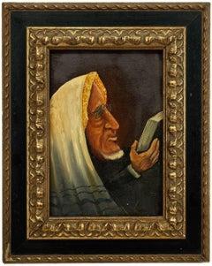 Belgian Modernist Judaica Oil Portrait of a Rabbi