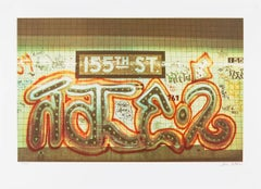 Graffiti Art Photograph Silkscreen Print Subway Station NYC 1970s Pop Art