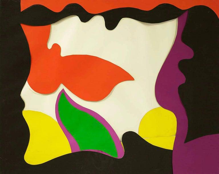 William Scharf - Red Angel, 1971 Cut Paper Collage 1