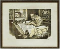 The Scribe, Rabbi Writing A Torah, Judaica Artists Proof