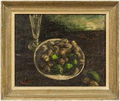 Still Life Bowl Of Nuts and Fruits signed Hartigan