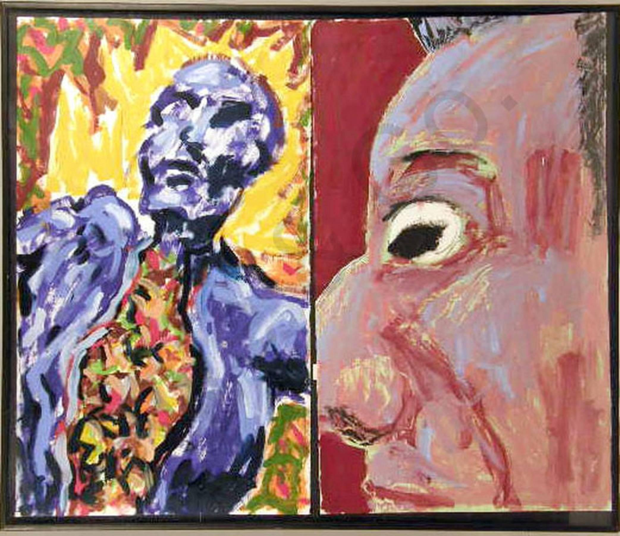 UNTITLED, 1981 DIPTYCH Neo Expressionist Figures