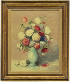 Untitled (Bouquet of Flowers in a Blue Vase)