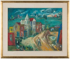 WPA Period American Modernist Realism Oil Painting