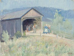 Family of Farmers by the Barn