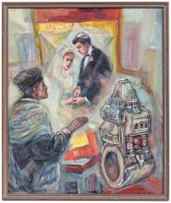 Jewish Wedding Chuppah and Marriage Ring Painting