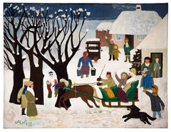 Winter in the Village, the Sleigh Ride