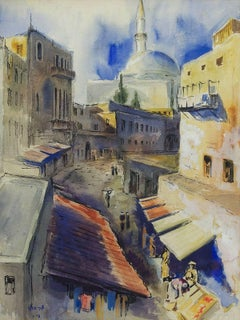 Painting of Old Town Of Akko, Acre, Israel