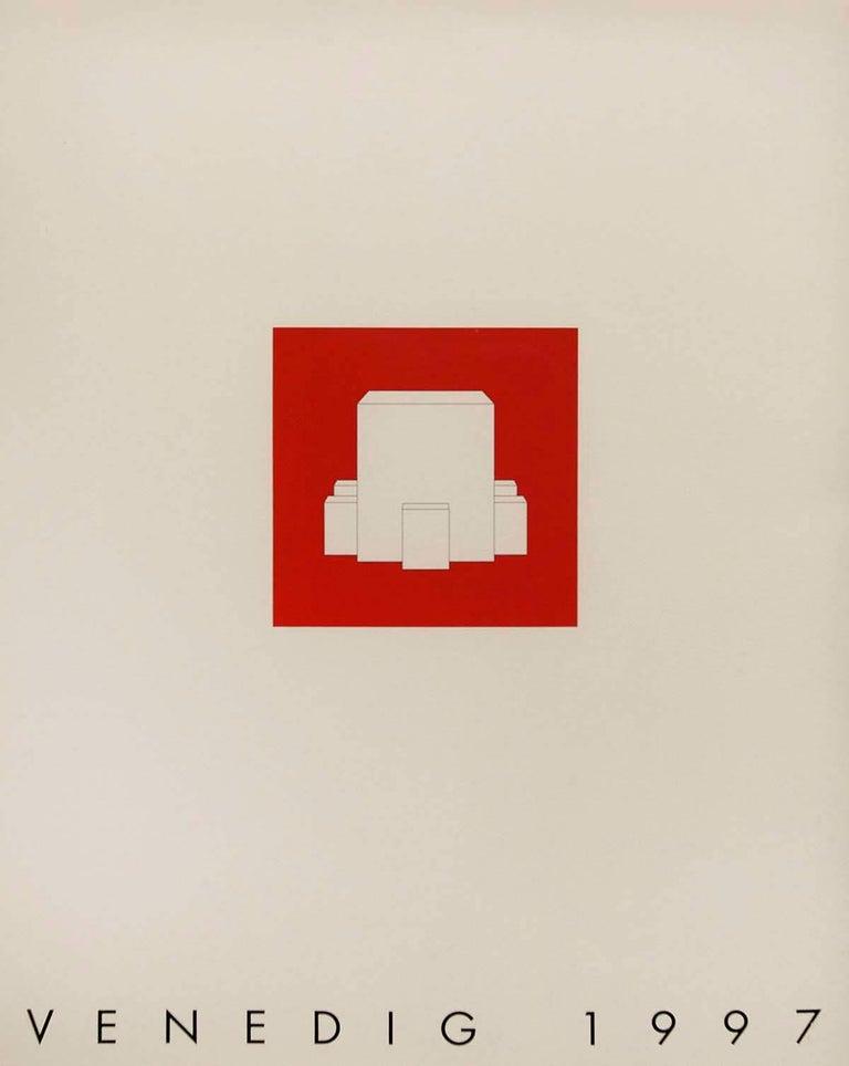 Venedig 1997 Minimalist Conceptual Architectural Silkscreen - Beige Abstract Print by Gerhard Merz