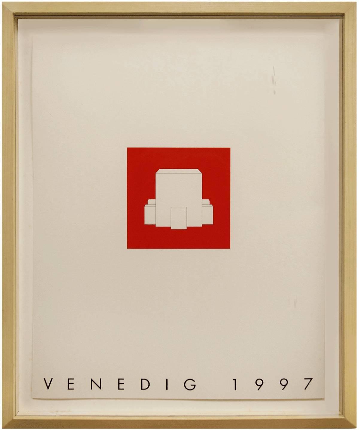 Venedig 1997 Minimalist Conceptual Architectural Silkscreen