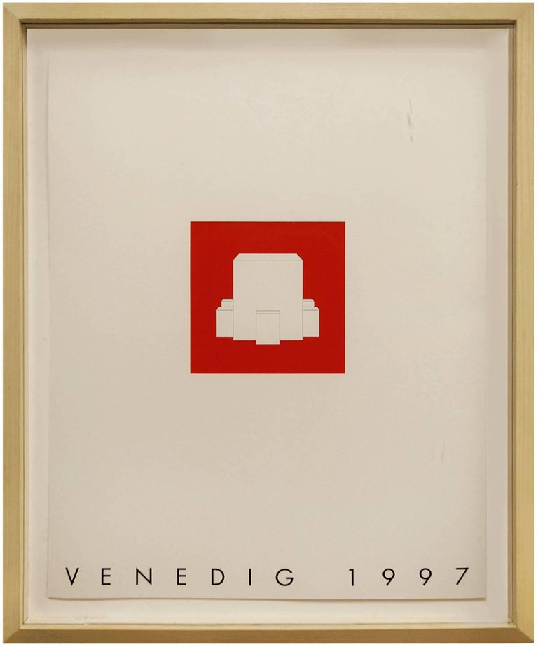 Gerhard Merz Abstract Print - Venedig 1997 Minimalist Conceptual Architectural Silkscreen