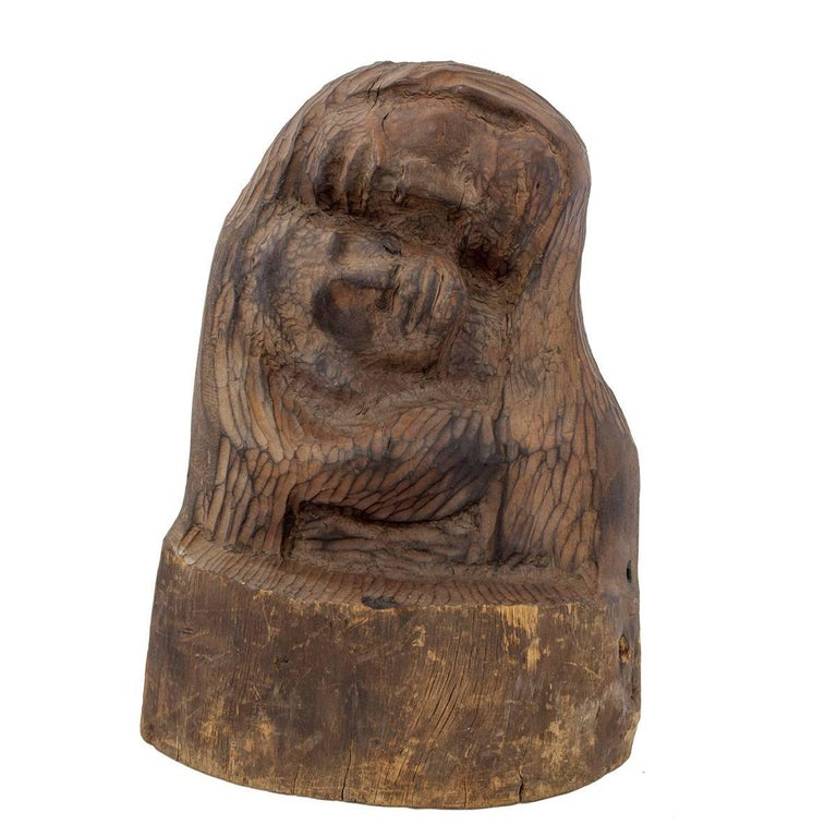 Chaïm Goldberg Figurative Sculpture - Rare Chaim Goldberg Kaszmirez Polish Holocaust Memorial Sculpture Spertus Museum