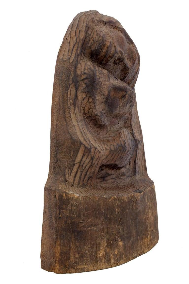 Rare Chaim Goldberg Kaszmirez Polish Holocaust Memorial Sculpture Spertus Museum - Brown Figurative Sculpture by Chaïm Goldberg
