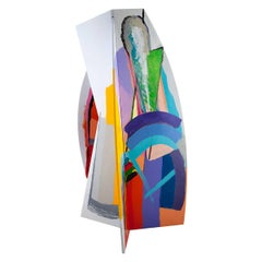 Israeli Circa 1980s Painted Aluminum Abstract Sculpture