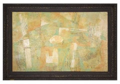 Vogue, Abstract Mid Century Modern Textured Oil Painting