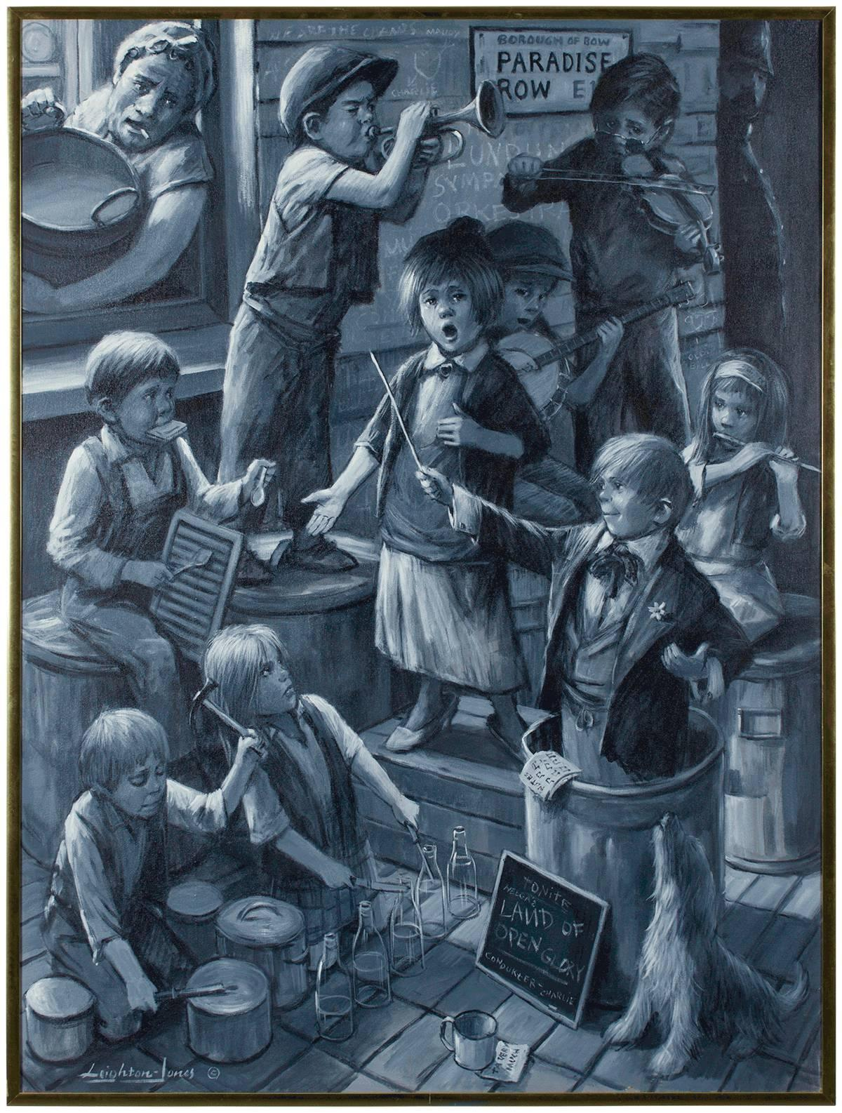 Band Of Street Urchins (Charles Dickens)  Large Oil Painting