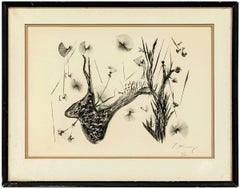 Whimsical Abstract Flowers, Lithograph, Signed, Ed. 6 of 30