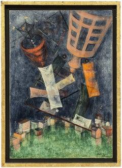 Israeli Modernist Abstract Oil