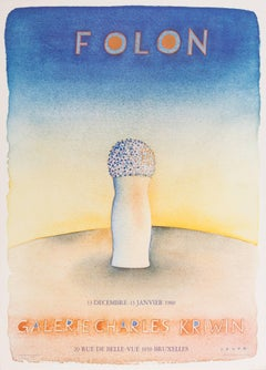 Folon Exhibition Poster, Galerie Charles Kriwin