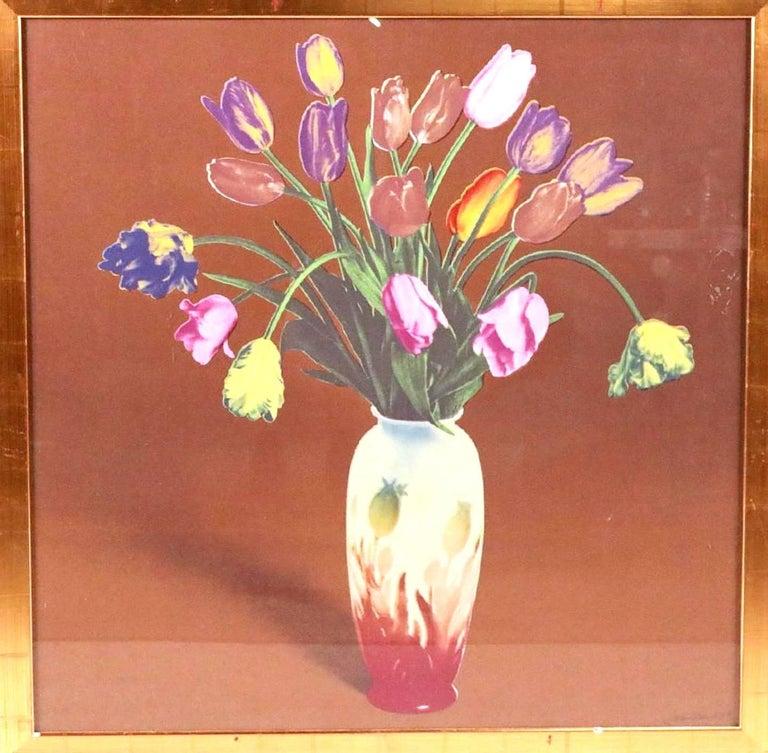 Tulips in Vase, Silkscreen Pop Art - Print by Francesco Scavullo
