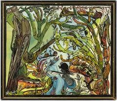 Naive Abstract Landscape Folk Art