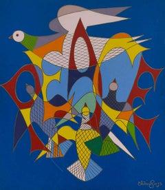 """Peace"" Mid-Century Pop Art"