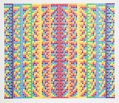 Op Art, Kinetic 1970s Original Vintage Silkscreen Lithograph Print