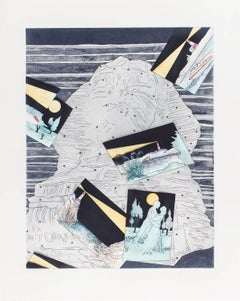 Night Light, Ed. 21/78 Signed Aquatint Etching California Artist