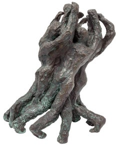 "Judaica Expressionist Bronze Sculpture ""Freedom and Victory"" Holocaust Memorial"