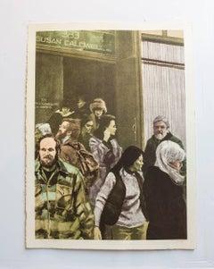 Soho Sunday (Susan Caldwell), Gallery Denizens, Signed Pop Art Lithograph