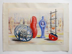 "Henry Moore 1949 School Prints Lithograph ""sculptural Objects"""