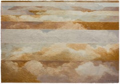 """Abstract """"Cloud Cover"""" 1972 Lithograph on Arches Paper"""