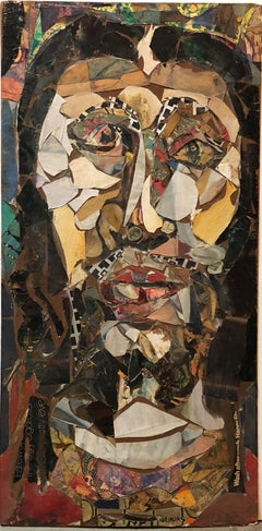 Large Assemblage Collage 2 Sided Painting Outsider Art