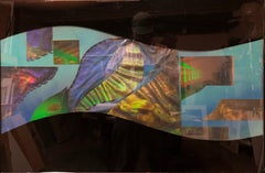 Large Scale 1980s Laser Holography, Cvetkovich Organic Hologram Collage