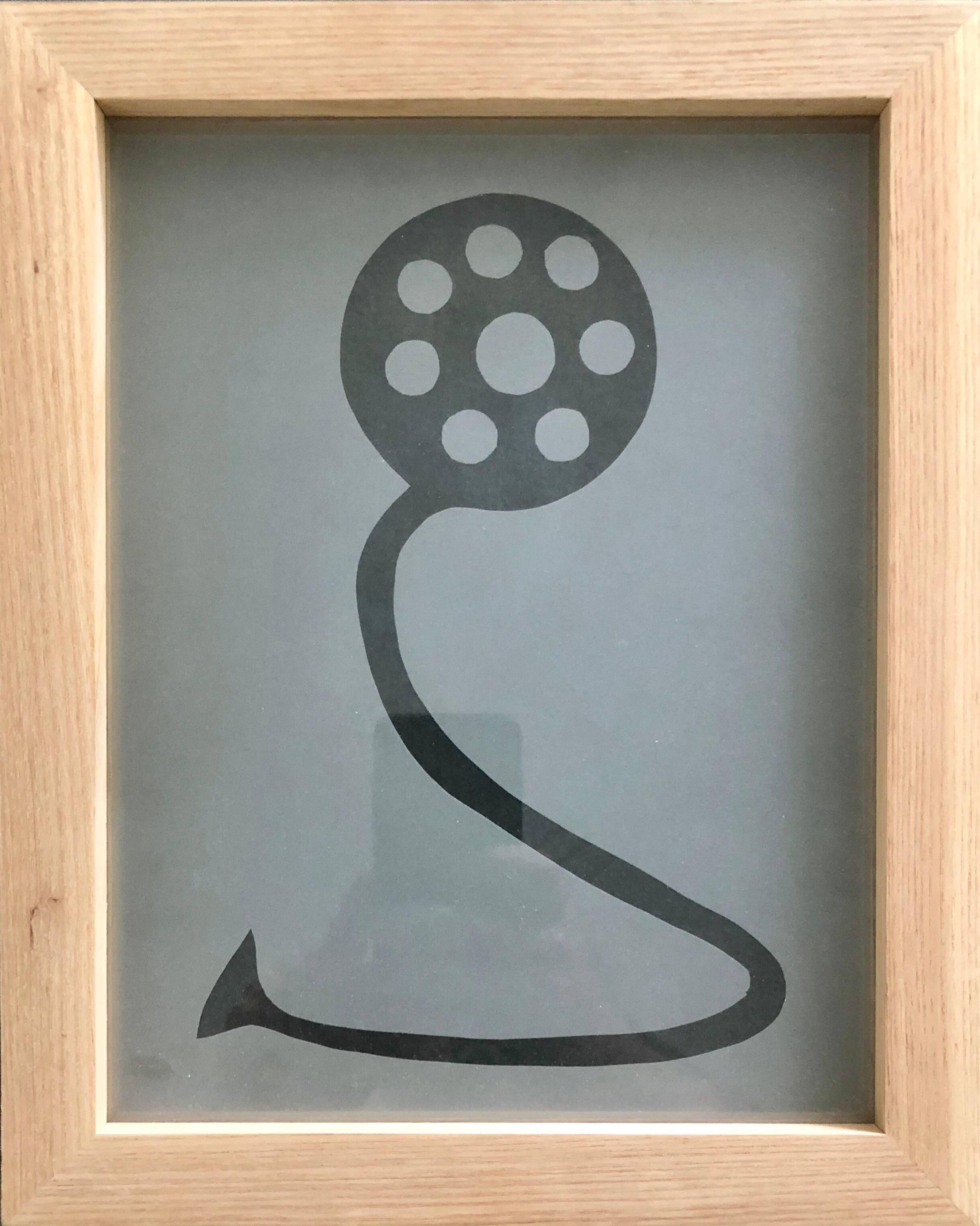 Acid etched Glass Wall Sculpture Artwork Framed ed. 25 Signed