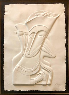 Post Soviet Non Conformist Russian Cast Paper Sculpture