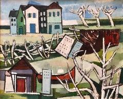 German Modernist Oil Painting LOWER RHINE