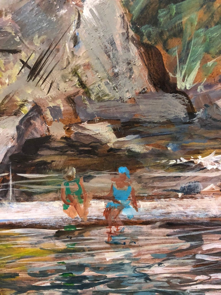 Theresa Berney Loew Bathers At The Quarry 1940s American