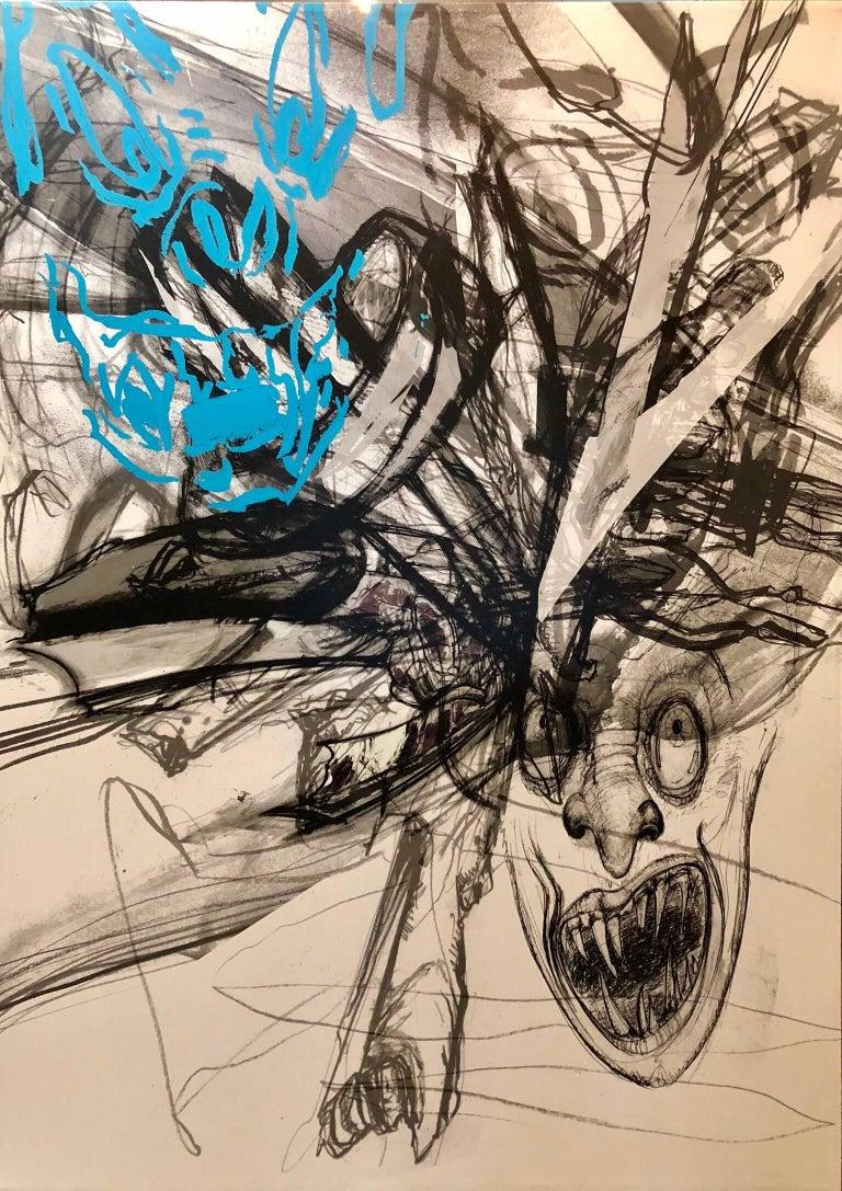Hashish, Palestine Large Mixed Media Conceptual Abstract Painting