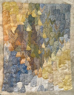 Large Handwoven Tapestry Bauhaus Trained Artist Wall Hanging
