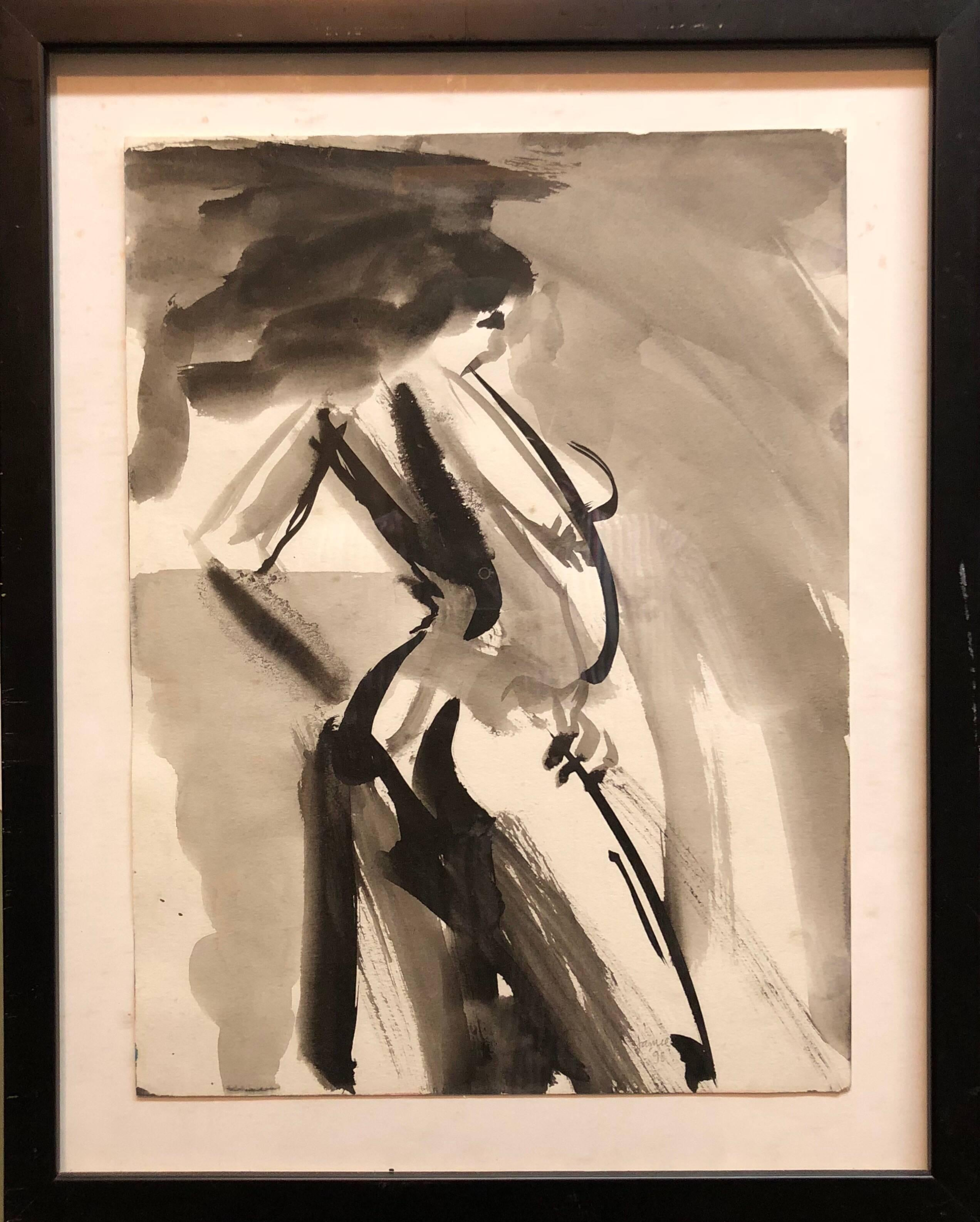 Abstract Figure Study of a Nude Woman Oil Painting