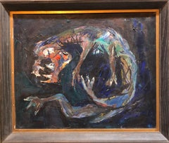 Modernist Creature Figure Bezael Schatz Israeli Painting