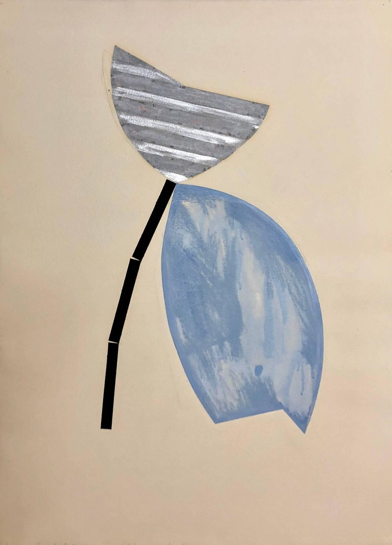 Bruce Robbins Large Mixed Media Collage Painting