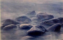 "Vintage C Print ""Of Time and Change"" Boulders on a Sea Shore"