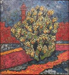 Jerusalem Tower of David, Sabra, Israeli British Modernist Impasto Oil Painting