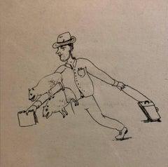 Collaborative Contemporary Surrealist Cartoon Drawing Humphrey + Coates
