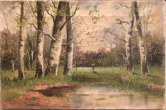 Pastoral Landscape Oil Painting Country Lane Scene